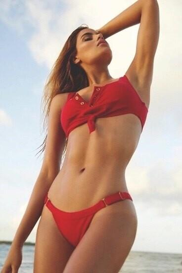 Kırmızı Şık Bikini Takım - Thumbnail