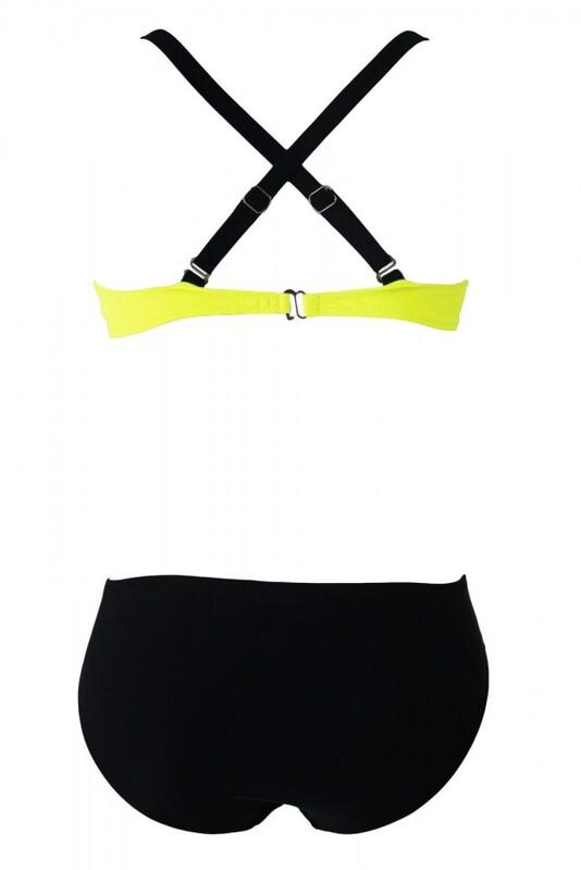 Sarı Siyah Şık Bikini Takım - Thumbnail