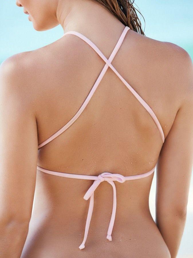 Şık Pembe Tankini Bikini Takım