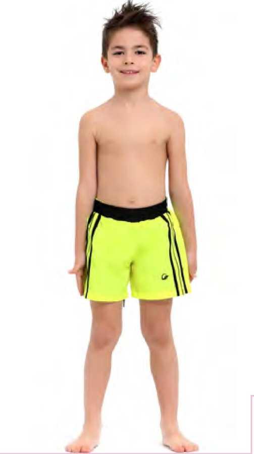 Erkek Çocuk Şort 1015 Neon Sarı