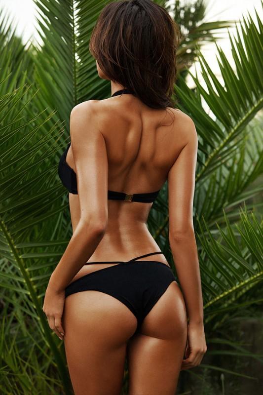 Siyah Süper Tasarım Bikini - Thumbnail