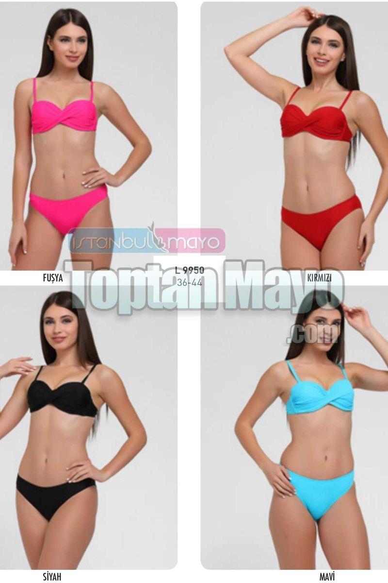 Straplez Kaplı Bikini 09950